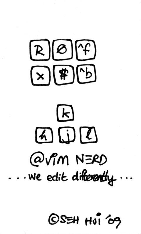 'VIM Nerd' by Seh Hui