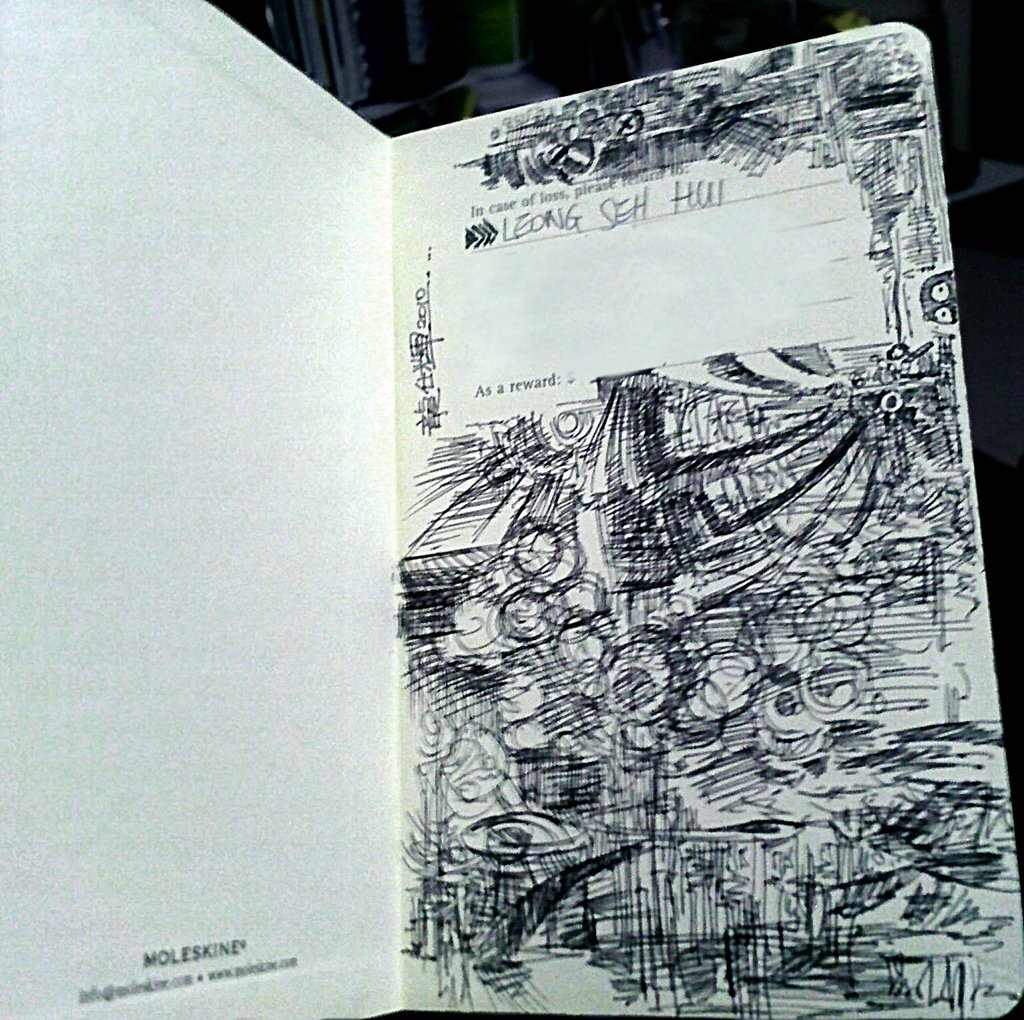 'Doodles inside a Moleskine' by Seh Hui