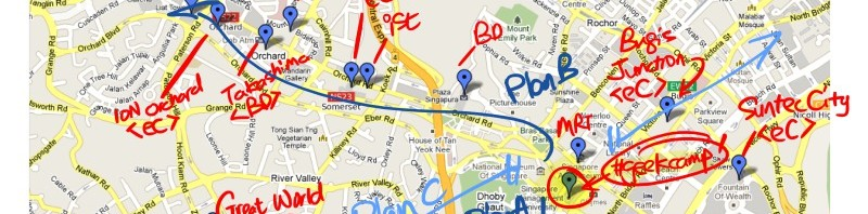 'iPad Hunting Map'